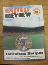 05/09/1979 Manchester United v Tottenham Hotspur Football League Cup [] (puntuaciones N