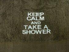 keep calm and take a ducha / Baño Bordado Toallas 100% Algodón Muchos Colores