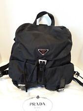 Authentic PRADA Vela Sport Black Nylon & Leather Backpack Large $1,250