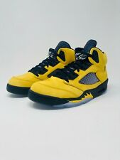 Nike Air Jordan 5 Retro SE Size 8 Michigan Fab Five Armarillo Yellow CQ9541-704