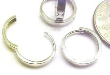 10kt White Gold 14MM Huggie Earrings-Square Edge-Free Shipping-Gift Box-Guarante