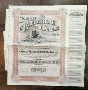 Lot 3 Stock Company Electricity D'Odessa. AD2751