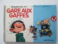 GASTON LAGAFFE N°1 GARE AUX GAFFES EO1966 TBE/TTBE EDITION ORIGINALE