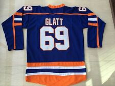 e4e903979 Doug Glatt #69 Halifax Highlanders Hockey Jersey Blue Stitched Numbers Size  S