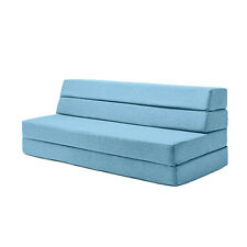 Marine Amelia Wool Fabric Foam Guest Z Bed Folding Futon Double Sofa Mattress