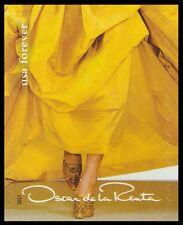 US 5173i Oscar de la Renta yellow dress forever single MNH 2017