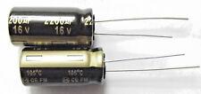 2200uf 16v 105c LOW ESR Size 25mmx12.5mm Panasonic EEUFM1C222 x2 pieces
