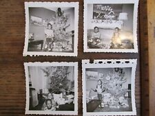Vintage Old Photo Lot Black African Americana Boys at Christmas Tree Toys Rare
