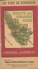 Les Vins de Bordeaux Route des Grands Crus 1954 Chateau Lafite-Rothschild w.Maps