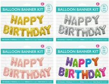 Air Fill Decorations kit Happy Birthday Balloon Banner Kit 35.5cm Per Letter