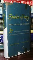 Doubleday, Neal Frank STUDIES IN POETRY  1st Edition Early Printing