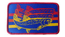 Trout Striped Embroidered Patch 3x5 Fly Fishing Iron On Fisherman BR