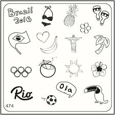 MoYou Nail Fashion Stamping Nail Art Image Plate 474 Trendy Style Brazil