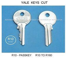 YALE KEYS CUT TO CODE  R10 - PASS KEY ( R10 TO R160 ) FILING CABINET - PADLOCKS