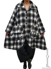 La Bass Layered Look Coat Long Jacket L-XL-XXL 46 48 50 52 54 56 58 Black White