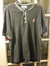 VINTAGE Cleveland Indians STARTER 3 Button EMBROIDERED Shirt Adult M Opening Day