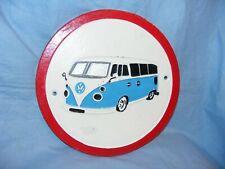 Volkswagen Camper Van Sign Cast Iron Advertising Sign Garage Man Cave