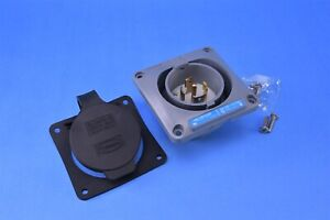 Hubbell Watertight Inlet Twist-Lock NEMA L21-30P 30A 3-Phase 120/208V HBL2815SW