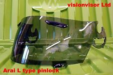 Arai L Type SAL Light Smoke Pinlock Visor Shield RR4 RX7 Corsair Astral Omni NR2