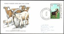 FDC, Mauritania, 1978 World Wildlife Fund, Barbary Sheep, First Day Cover