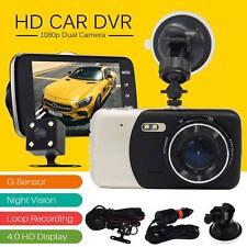 "4"" Dual Lens Camera HD 1080P 170Â Car DVR Video Dash Cam Recorder Night Vision"
