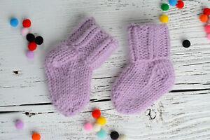 Unique handmade newborn baby socks Alpaca's wool soft knitted socks clothing