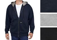 Dickies Men's Lightweight Hoodie Full Zip Work Outerwear Fleece Hooded Jacket