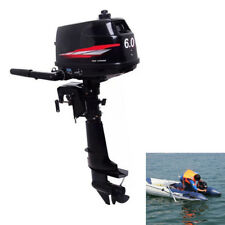 New Heavy Duty Outboard Motor Boat Engine 2 Stroke W/Water Cooling System 6HP