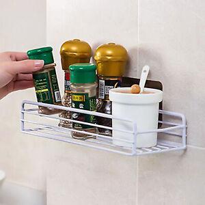 Wall-mounted Self-adhesive Storage Rack Bathroom Kitchen Shelf Stroage Holder