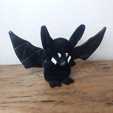 Bat Plush Fluffyville USA Faux Leather Wings Hard Nose Black Vampire Long Ear