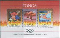 Tonga 2012 SG1655 Olympics MS MNH