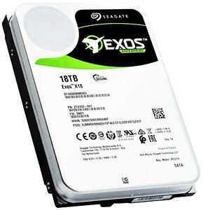 """Seagate 18TB Exos X18 SATA 6Gb/s 3.5"""" Enterprise HDD (ST18000NM000J)"""