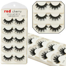5 Pairs Makeup Cross Thick False Eyelashes Eye Lashes Long Soft Nautral Handma l
