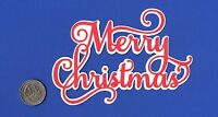 """Layered Merry Christmas Title Die Cut - 5.5"""" x 3.75"""""""