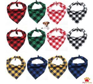 Tartan Dog Bandana Neckerchief Gift UK Cat,Rabbit, Pet Neck Scarf NEW Multicolor