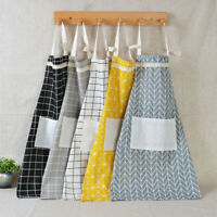 GI- Fashion Unisex Plaid Sleeveless Overall Kitchen Cooking Baking Apron HEA