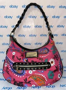Betseyville by Betsey Johnson Pink Floral Daisy Purse Shoulder Bag with Zipper