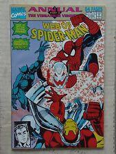 Web of Spiderman I#8 & #9 Annuals Ultron,Iron Man & New Warriors App NM/NR