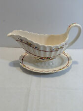 SPODE COPELAND COWSLIP GRAVY BOAT WITH  ATTACHED UNDERPLATE