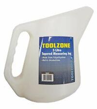 TZ 5 Litre Tapered Measuring Jug - Oil Strong Plastic Polyethylene Garage