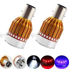 2pcs BA20D 900LM LED Flash Fog Light Motorcycle Motor Bike/Moped Headlight Bulbs