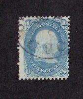 United States stamp #63, used, 1861 - 62, SCV $50