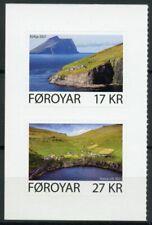 More details for faroes faroe islands landscapes stamps 2021 mnh kirkja & hattarvik 2v s/a set