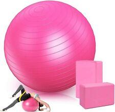 75cm Anti Burst Balls Fitness Exercise Gym Yoga Swiss Stability Ball Yoga Blocks