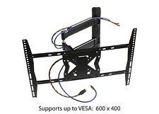 "Articulating LCD LED TV Mount For 19-52"" Tilt Swivel Cable Management Hide Wires"