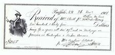 RARE Receipt - Woman Golf 1901 - Buffalo NY Signed by Architect James A Johnson?
