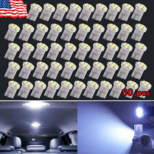 50PCS Cool White T10 8SMD Side Wedge License Interior LED Light W5W 194 168 2825