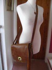 Ladies ROWALLAN CROSS BODY MESSENGER brown hand made LEATHER SATCHEL hand BAG