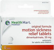 HM Motion Sickness Relief -- 12 tablets for kids & adults - Sea Sickness