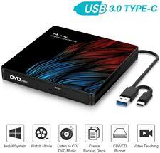 New listing M Way External Dvd Drive, Usb 3.0 & Usb-C Cd Rom,for Windows, Linux Pc, MacBook
